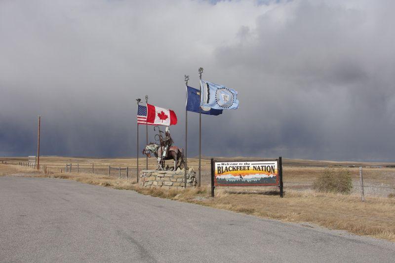 Entering Blackfeet Indian Nation Territory