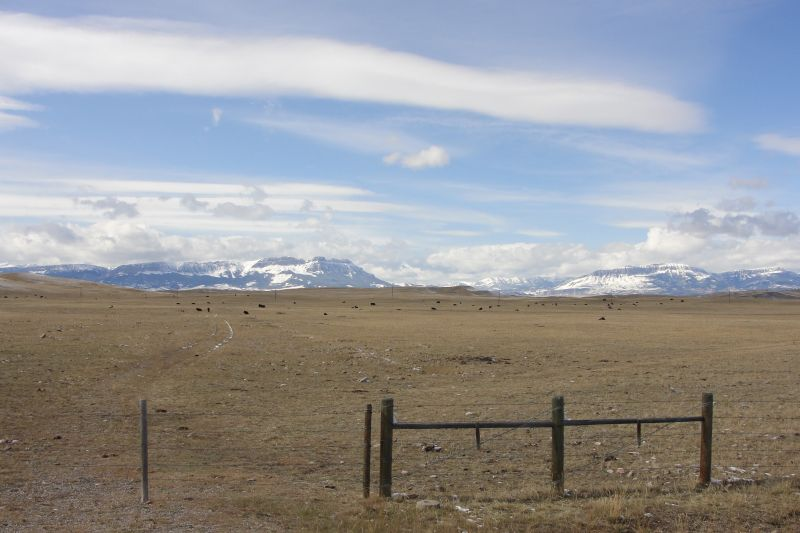 Montana Ranch with the Rockies in the back